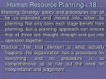 human resource planning 18170
