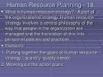 human resource planning 18173