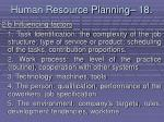 human resource planning 18178