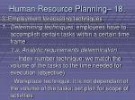 human resource planning 18179