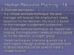 human resource planning 18183