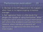 performance evaluation 20210