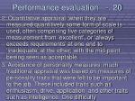 performance evaluation 20214