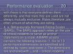 performance evaluation 20215