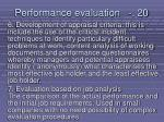 performance evaluation 20217