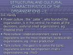 structural and cultural characteristics of the organizations 229