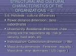 structural and cultural characteristics of the organizations 235