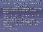 what are the problems of the problem solver with securing acceptance of the novum 14