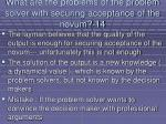 what are the problems of the problem solver with securing acceptance of the novum 14121