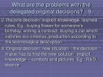 what are the problems with the delegated original decisions 991