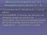 what are the problems with the delegated original decisions 996