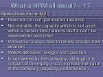 what is hrm all about 17144