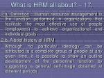 what is hrm all about 17145