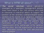 what is hrm all about 17146