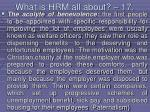 what is hrm all about 17148