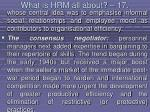 what is hrm all about 17150