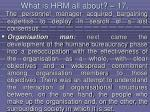 what is hrm all about 17151