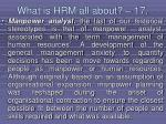 what is hrm all about 17153