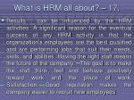 what is hrm all about 17156