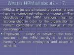 what is hrm all about 17158