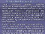what is hrm all about 17159