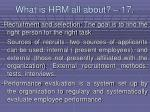 what is hrm all about 17161