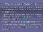what is hrm all about 17164