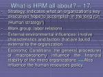what is hrm all about 17165