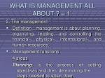 what is management all about 14