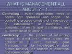 what is management all about 16