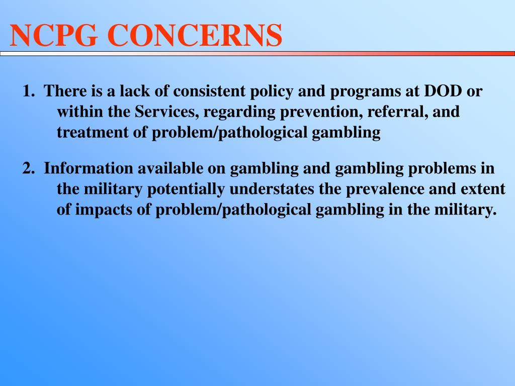 NCPG CONCERNS