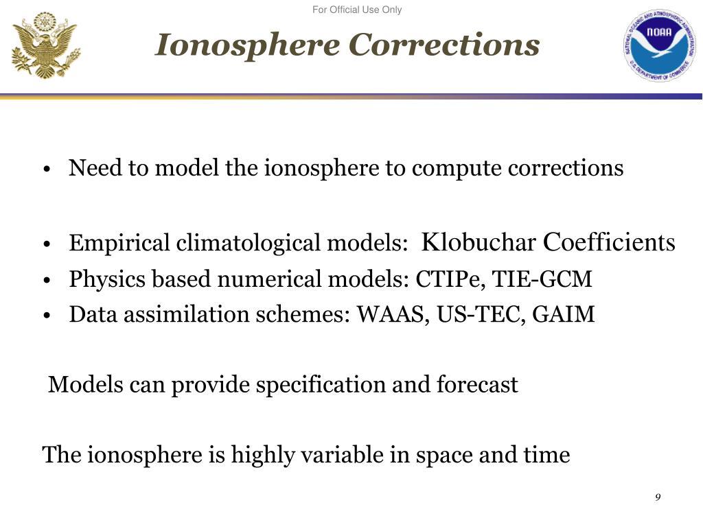 Ionosphere Corrections