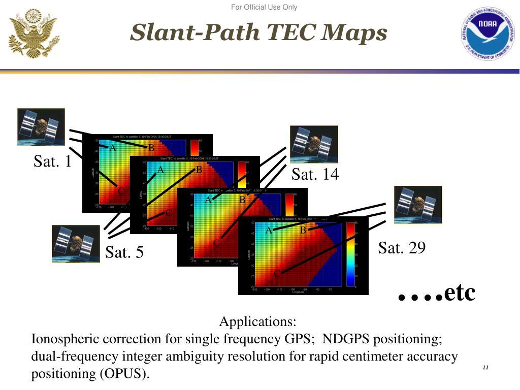 Slant-Path TEC Maps