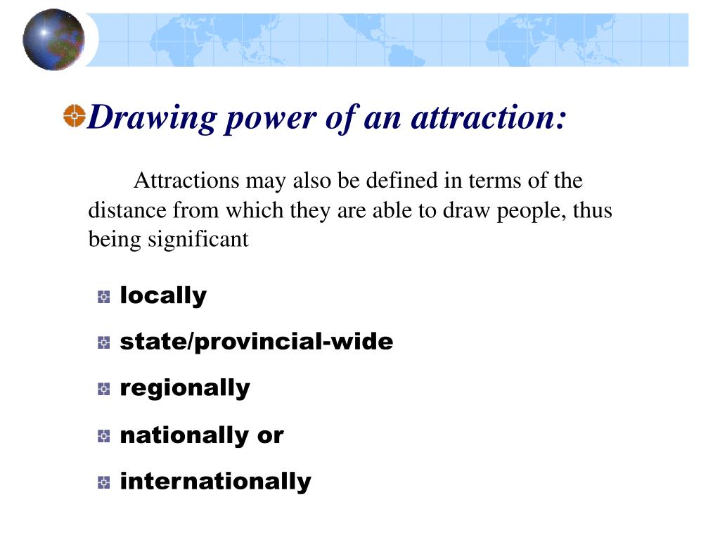 Drawing power of an attraction: