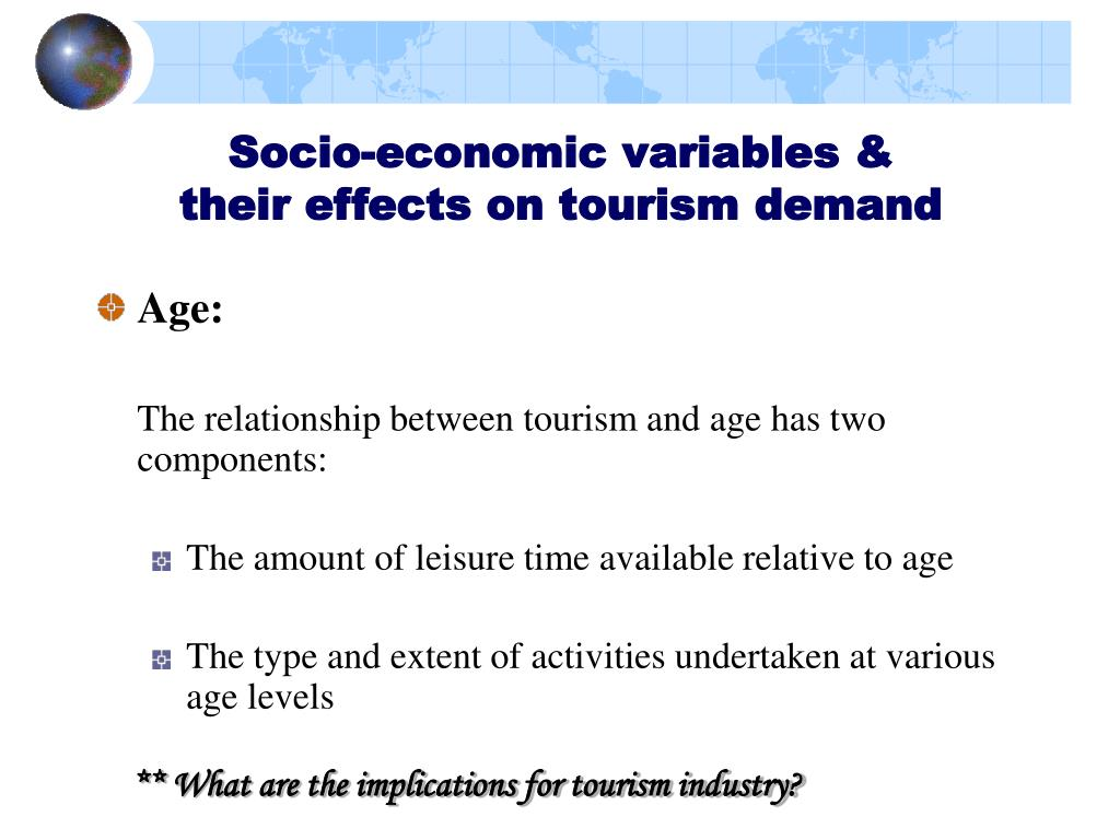 Socio-economic variables &