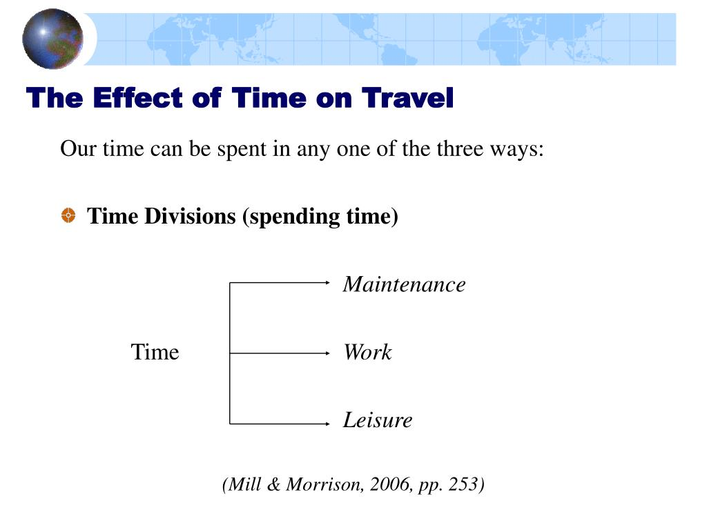The Effect of Time on Travel