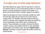 a simple view of solid state detectors