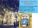 the sudbury neutrino observatory