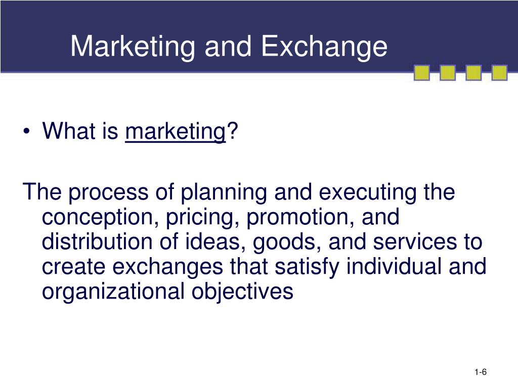 Marketing and Exchange