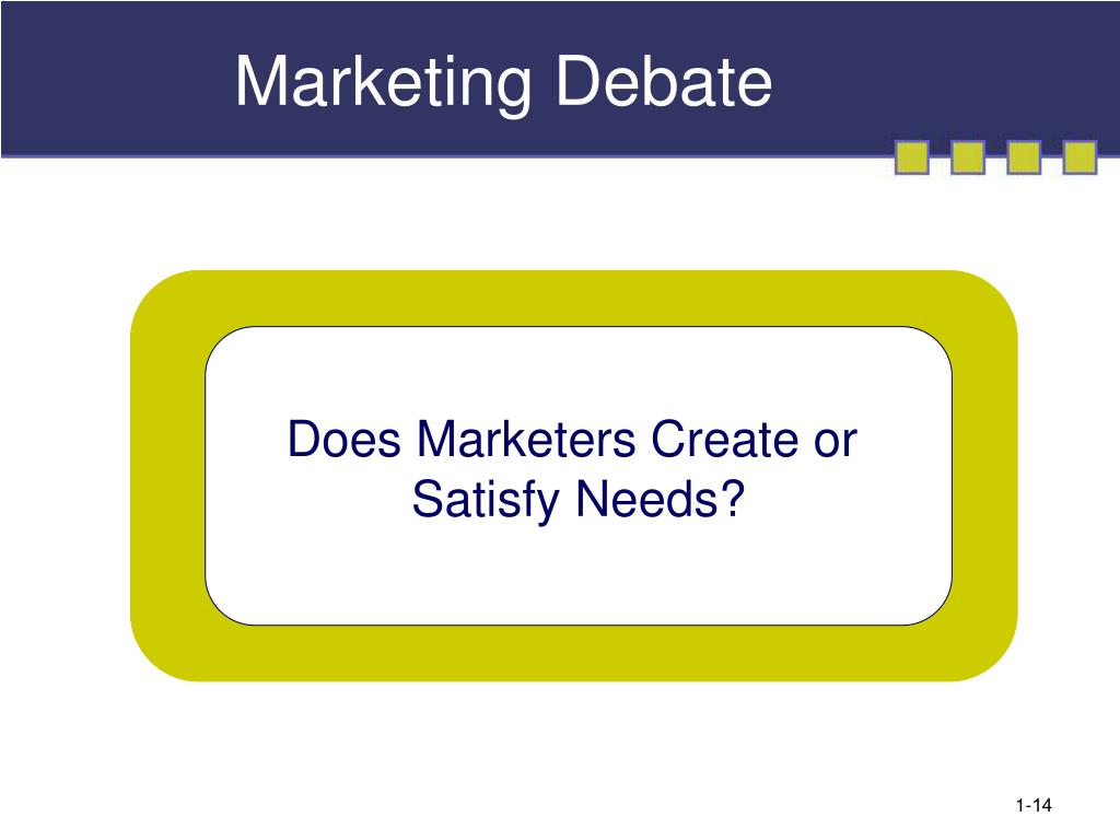 Marketing Debate