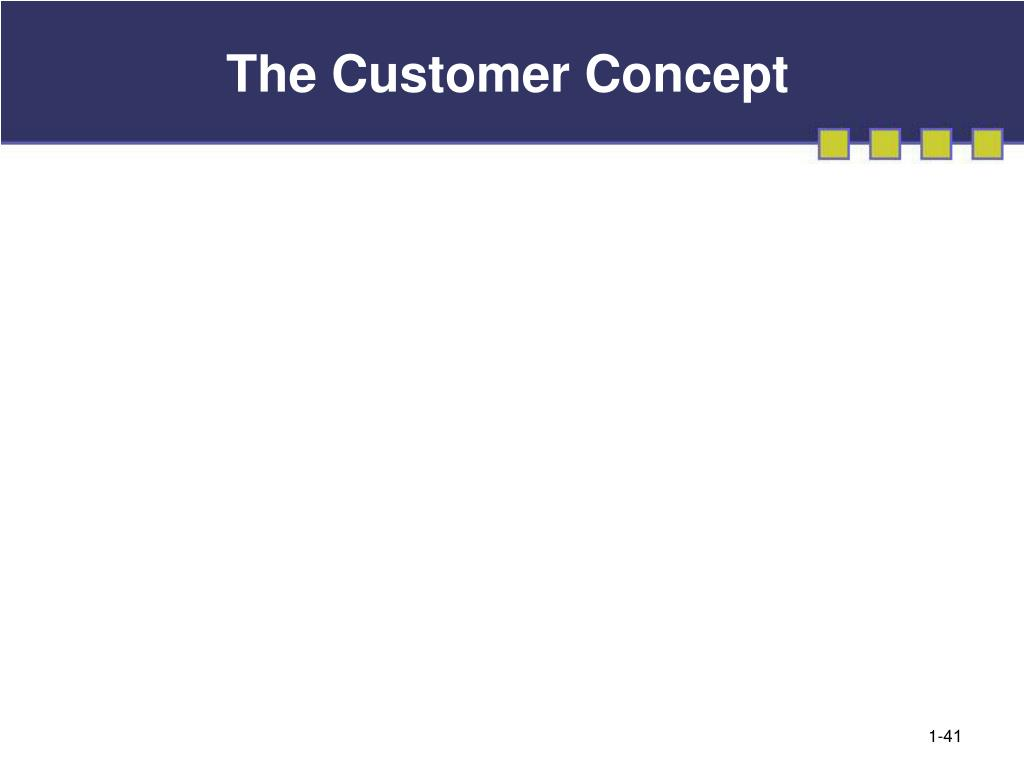 The Customer Concept