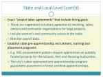 state and local level cont d
