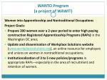 wanto program a project of wawit