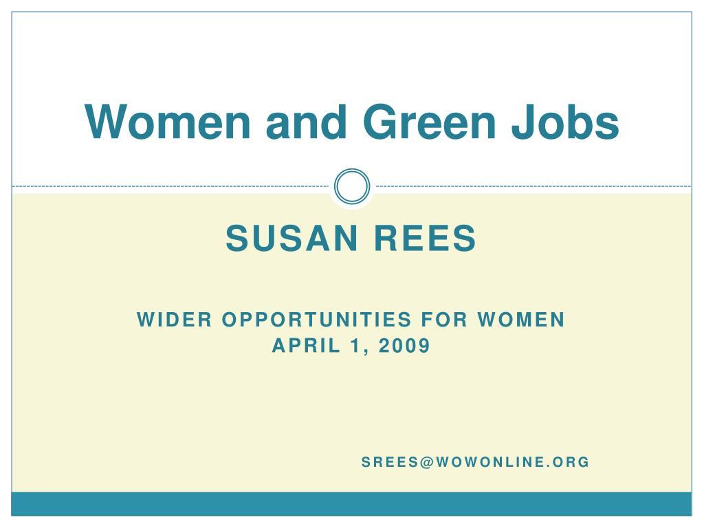 women and green jobs