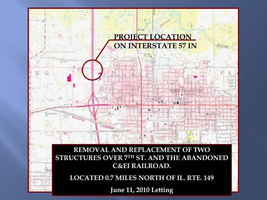 PROJECT LOCATION ON INTERSTATE 57 IN