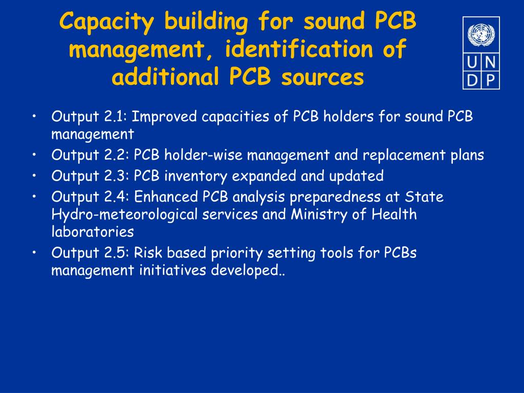 Capacity building for sound PCB management, identification of additional PCB sources