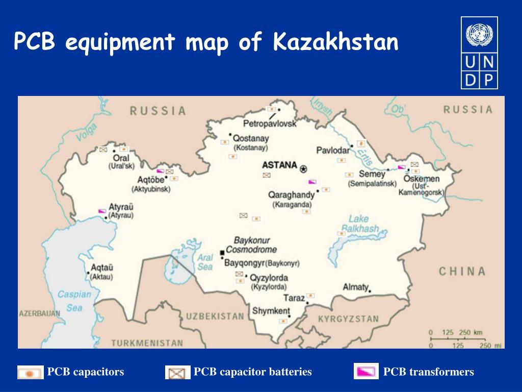 PCB equipment map of Kazakhstan