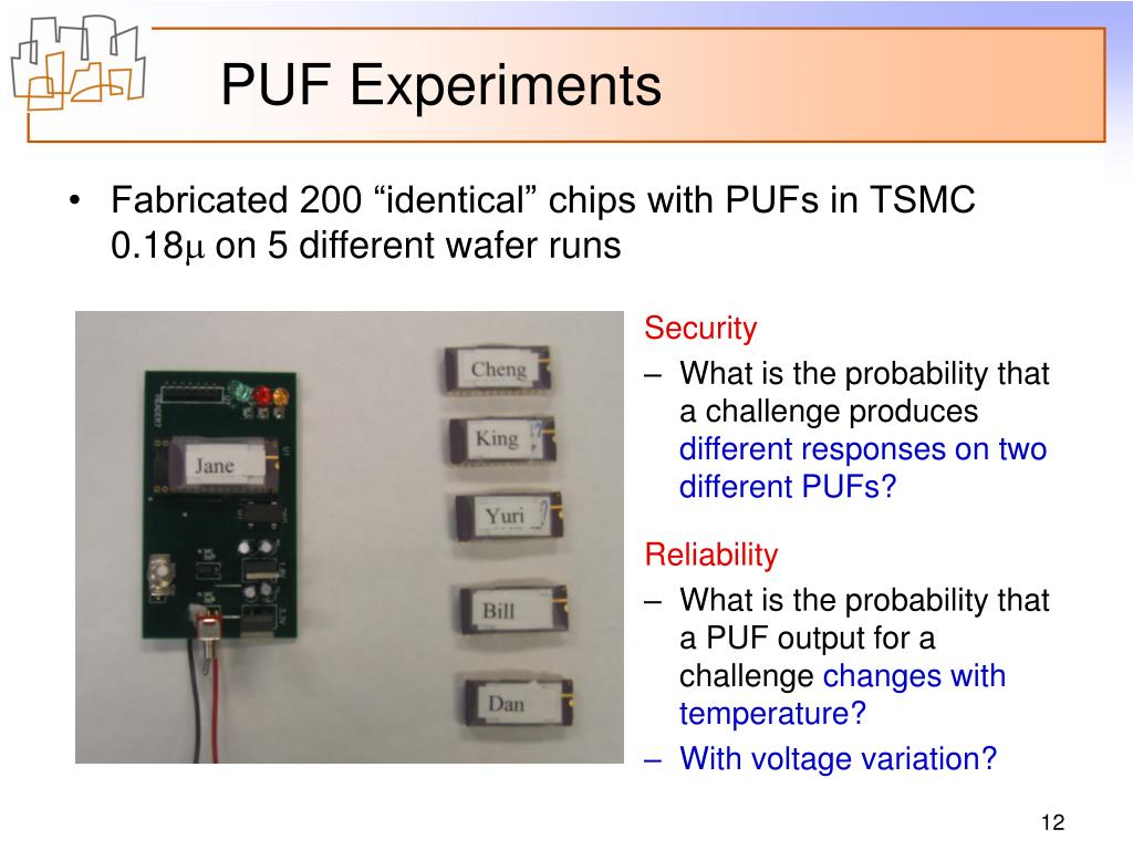 PUF Experiments