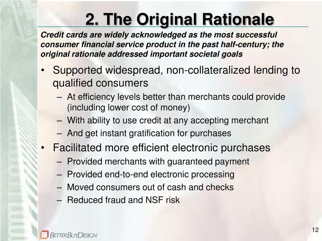 2. The Original Rationale