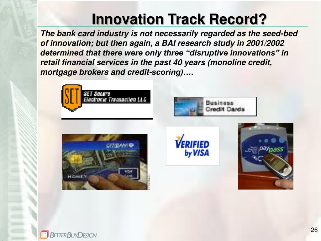 Innovation Track Record?